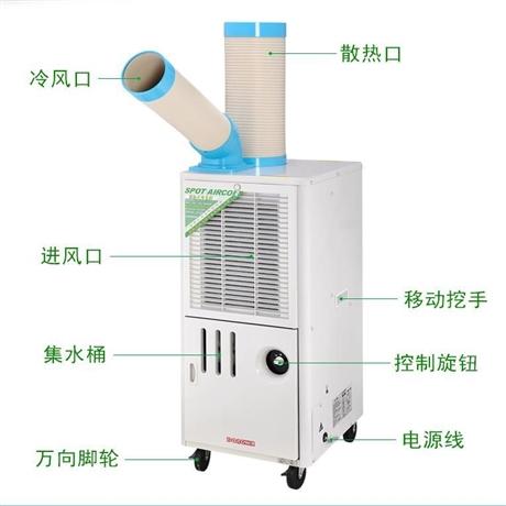 冬夏SAC-25D车间工业移动空调工业冷气机点式局部降温岗位空调