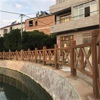杭州市X型怡杰园林仿木栏杆厂家直销