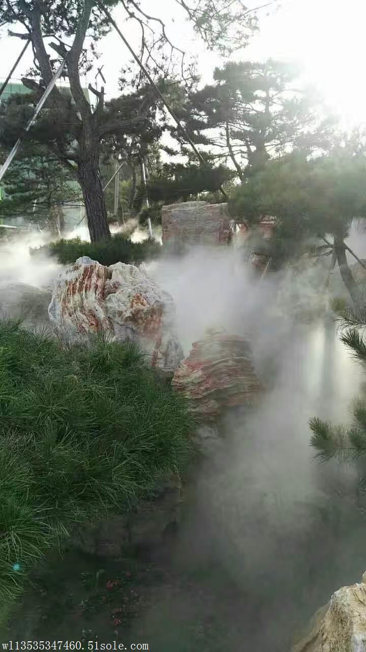 户外喷雾降温造景设备  景观雾森系统