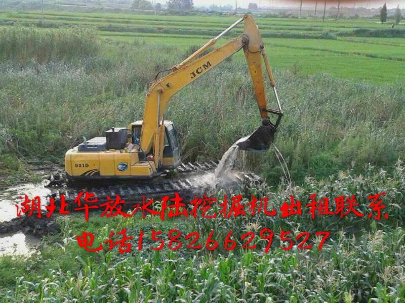苏州河道清淤水库出租 水上挖掘机出租 水陆挖掘机出租改装包月