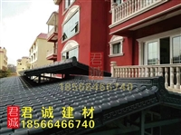 广东湛江耐候防腐树脂瓦筒瓦 合成树脂厂家直销 装饰琉璃瓦批发