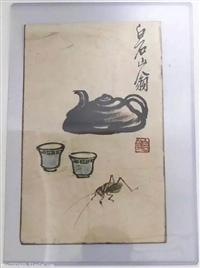 精品鉴赏齐白石稀世珍品  精品花虫小品12帧  估价超千万
