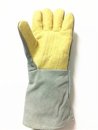 500度耐高温手套牛皮芳纶隔热手套防火防烫工业防护手套