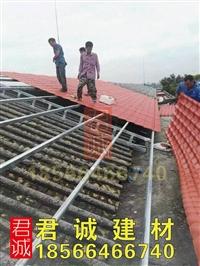 广东高州屋顶别墅瓦,木屋亭子装饰瓦,树脂防腐瓦厂家直销