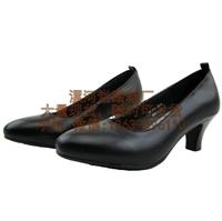 女军官皮鞋 女式常服皮鞋 真皮女单鞋女公安单皮鞋 女警官皮鞋