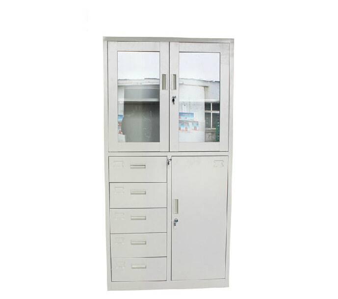 钢制矮柜储物柜文件柜铁皮柜办公资料柜档案柜带锁