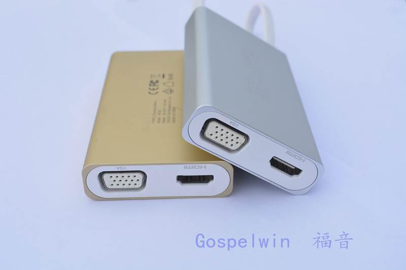 福音USB Type-C集线器充电传输两不误