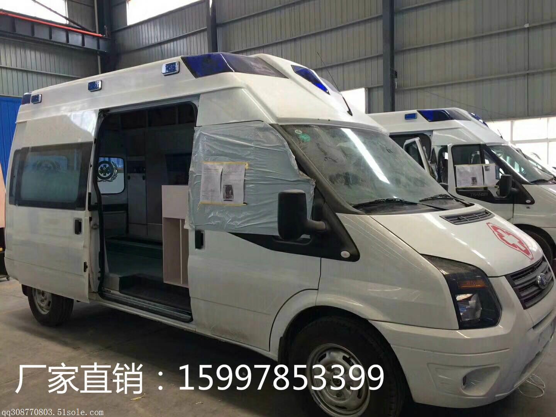 新时代全顺v348高顶监护型救护车厂家直销预购从速,订购热线:15