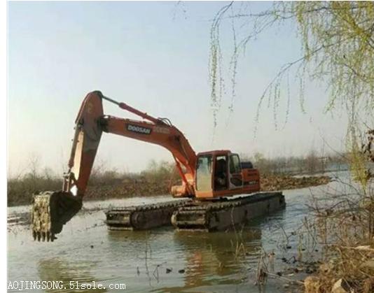 水路两用挖机出租价格/水路挖掘机出租价格