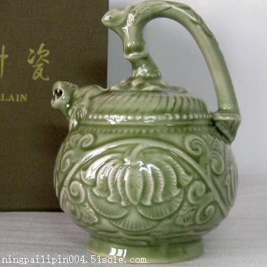 倒流壶价格 公道杯 凤鸣壶图片 西安耀州瓷商务套装