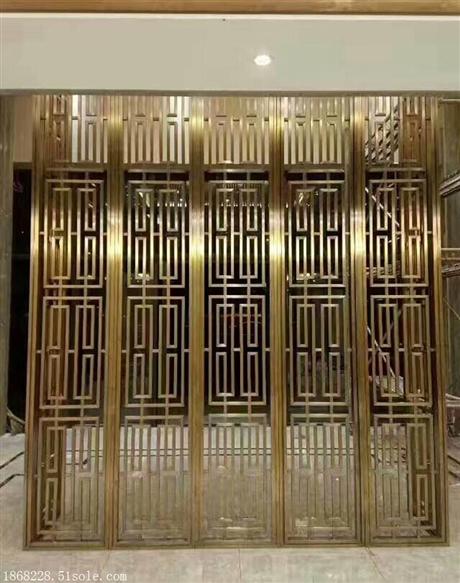 臻佳供应酒店大堂背景墙不锈钢花格屏风隔断