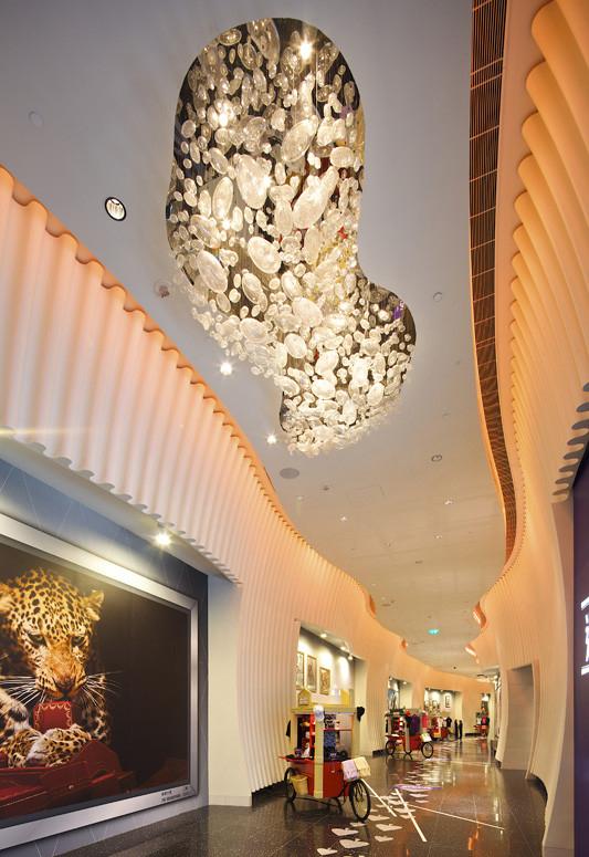 北京双林瑞兆专业定制大型吹制手工玻璃吊灯