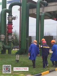河北恩曼的国际除垢设备安装化肥厂车间的除垢效果