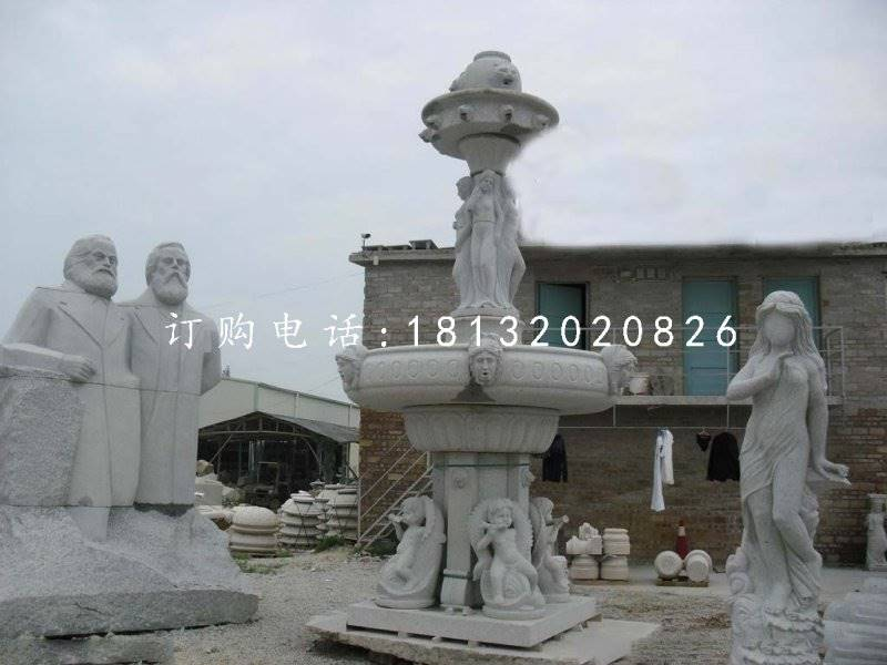 【欧式喷泉,大理石喷泉】价格,厂家,景观雕塑-搜了网