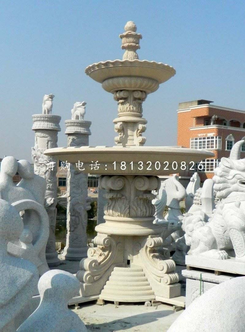 欧式喷泉石雕,广场景观雕塑