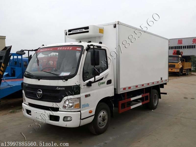 国五福田欧马可4.2米车厢冷藏车报价 欧马可保温车图片配置