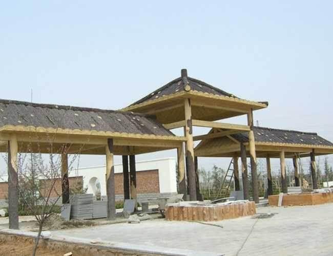 江西新农村建设户外园林钢筋混凝土水泥仿木凉亭花架定做厂家
