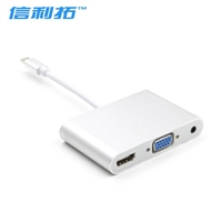 USB 3.1 type-c转vga hdmi 带3.5mm音频线接口转换线4K*2K转换线
