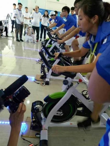 上海动感发电单车租赁蓝球机投蓝机