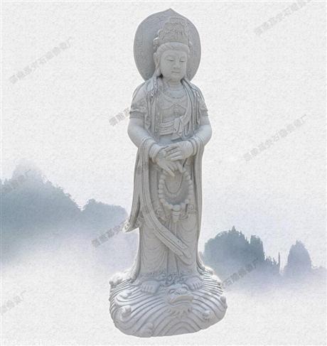 石雕观音菩萨厂家三面观音厂家直销石雕神像公司有哪些大型观音像