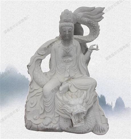 观音菩萨 大型摆件佛神雕刻四大菩萨石雕佛像专业制作大理石菩萨