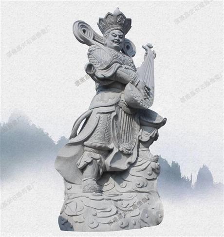 佛像雕塑厂家供应石雕佛像观音 花岗岩四大金刚 护世四天王 神像