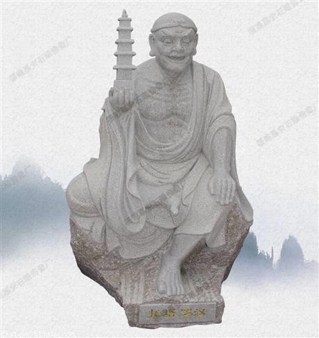 佛像石雕加工小和尚石雕十八罗汉像寺庙大型摆件定做厂家直销定制