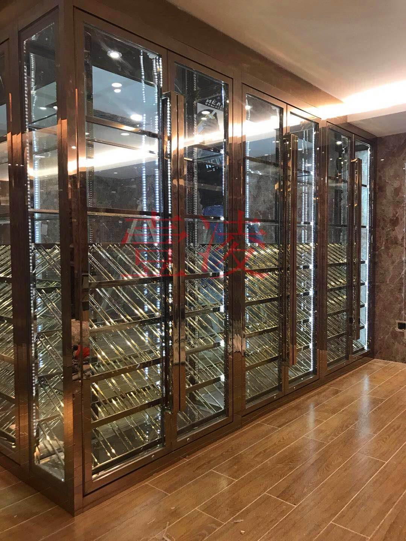 湖南不锈钢酒柜定制 恒温酒柜 家用不锈钢酒柜 欧式红酒柜