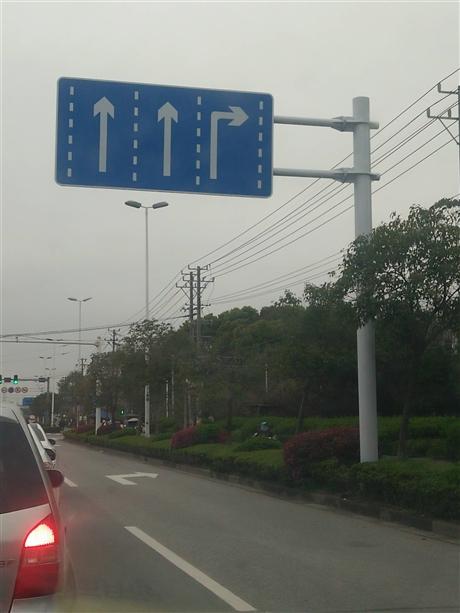 标志杆厂家 生产高速路道路指示牌,方向标志牌标志杆,来图定做