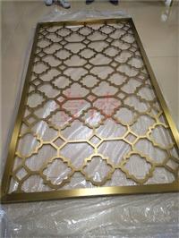 欧式别墅客厅镂空 电镀玫瑰金不锈钢屏风