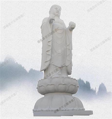 石雕观音佛像厂家批发阿弥陀佛石象 广场 宗教庙宇佛像定做