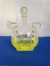 金钱猪猪玻璃酒瓶生肖猪玻璃酒瓶空心猪白酒瓶异形猪玻璃瓶