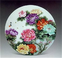王跃祖瓷板画上门收购估价收藏市场分析