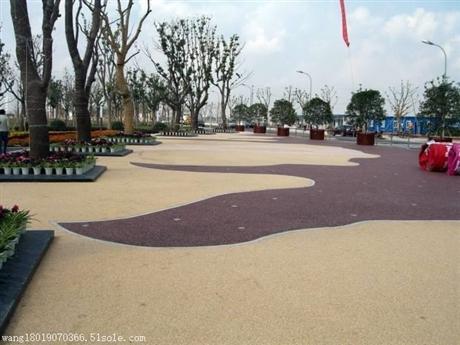 沧州供应海绵城市材料-----彩色透水地坪技术指导