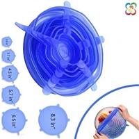 爆款直供食品级硅胶保鲜盖(6件套) 多功能密封碗盖