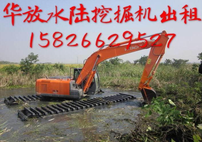 四川水上挖掘机 水陆两用挖掘机 湿地挖掘机出租 租赁改装挖掘机