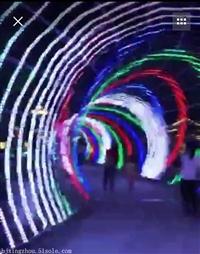 梦幻灯光节 灯展灯会 LED立体造型灯 景观灯 铁架LED大型帆船