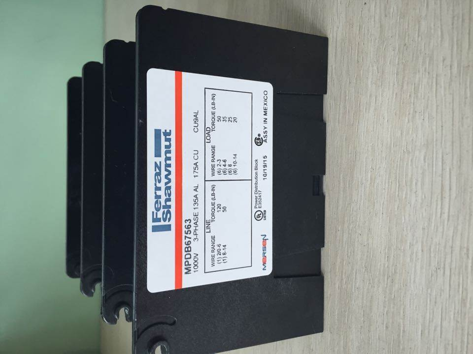 询价 配电模板 ferraz mersen  MPDB63153