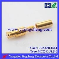 MCX-C-J3电缆连接器压接公头