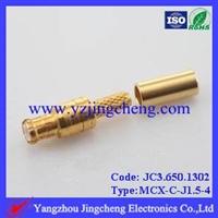 MCX-CJ1.5-4电缆连接器压接公头
