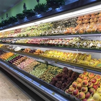 洛阳市专业定做水果保鲜柜的厂家-洛阳风幕柜价格