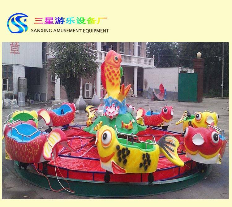 小型广场游乐设备厂家 鲤鱼跳龙门水上儿童设备 地摊专用