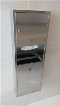 jyx-750a,75cm高不锈钢304二合一擦手纸箱二合一组合柜