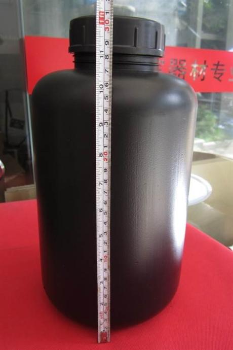 5000ML加厚HDPE塑料瓶带内盖5L广口大口试剂瓶黑色 保健品瓶
