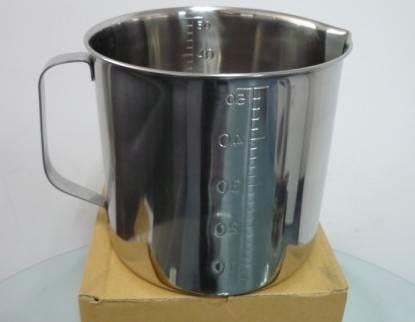 日本进口不锈钢量杯SUS304量杯5000ML(5L)内外刻度量杯