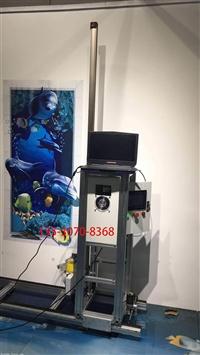 双喷头立式墙体彩绘工程机 户外围墙喷绘机 户内3D背景墙面打