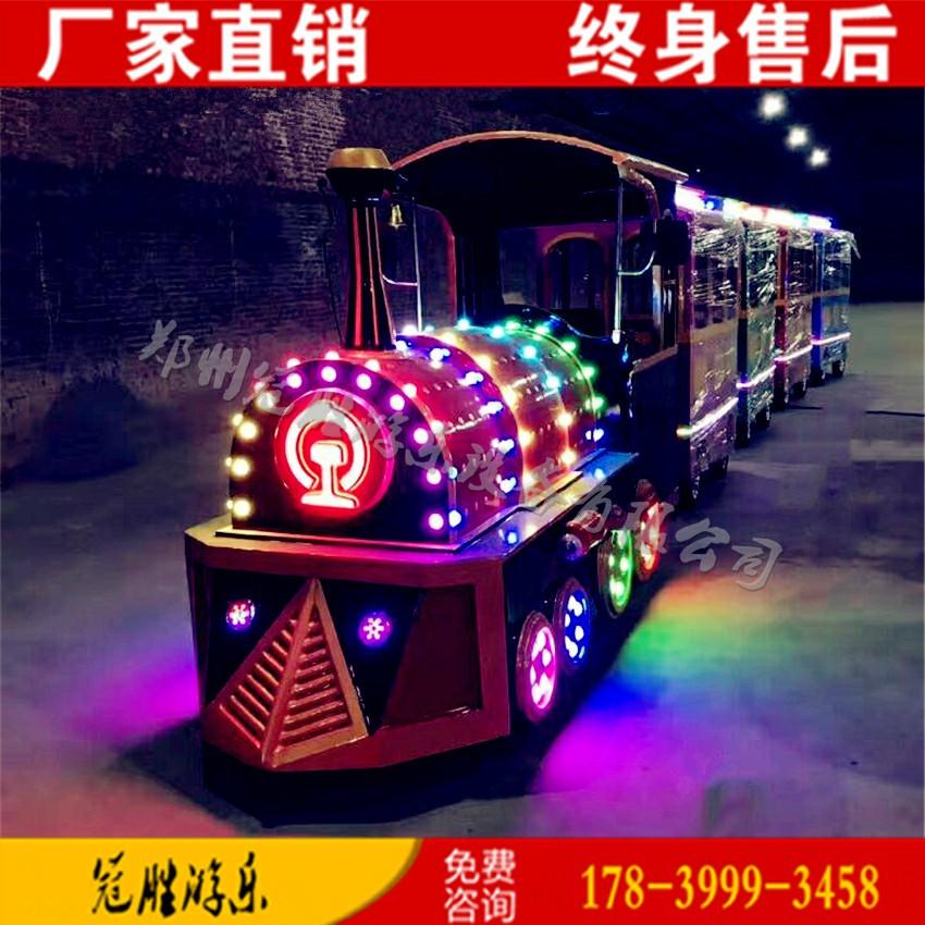 大型景区观光无轨复古小火车儿童游乐设备