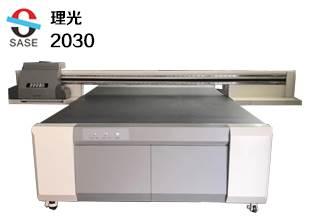 理光2030皮革布料uv平板打印机鞋面衣服T恤uv印花机