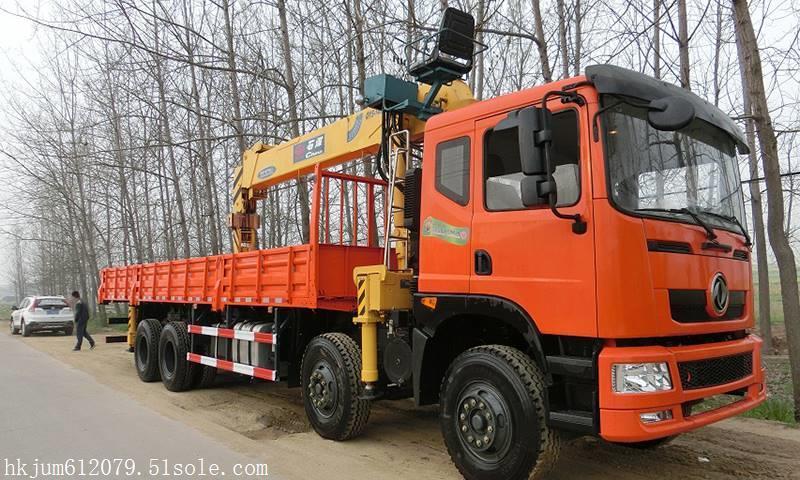 jsqzmv1型随车起重运输车采用东风天龙前四后八底盘,型号eq1310gsz5dj