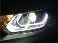 惠州车灯升级改装后能过年检么惠州爵视车灯专业本田飞度车灯改装